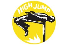 Track and Field Athlete High Jump Wo