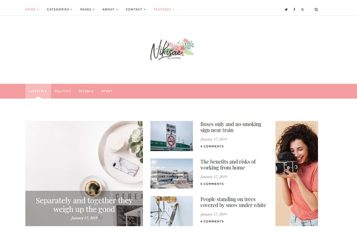 Nikisae - Personal WordPress Blog