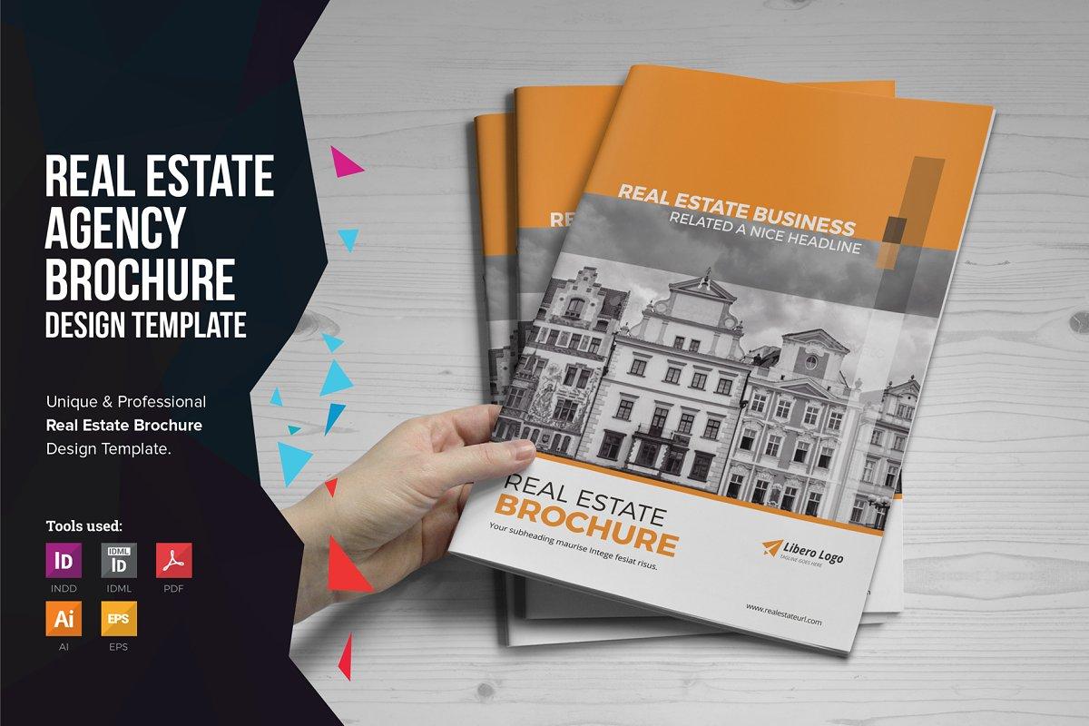 Real Estate Brochure v2 ~ Brochure Templates ~ Creative Market