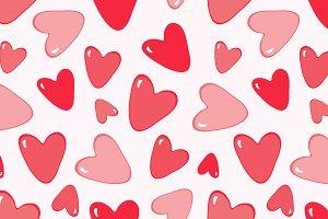 Heart seamless print