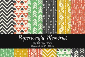 Patterned Paper – Dances with Wolves