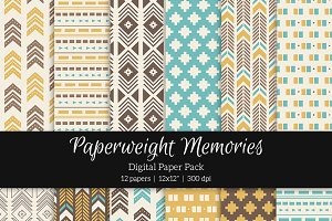 Patterned Paper – Tribal Aztec Blue