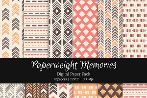 Patterned Paper – Tribal Aztec Pink