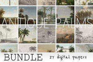 Antique Palms Digital Paper Bundle