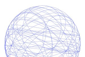Wire structure of sphere. Digital co