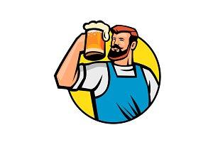 Bearded Hipster Toasting Beer Mug Ci
