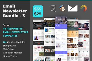 Email Newsletter Template Bundle - 3