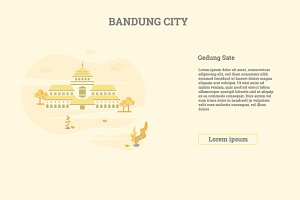 Gedung Sate Bandung City, Indonesia