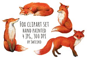 Fox illustration, clipart