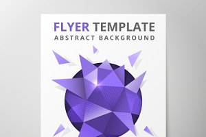 Geometric triangular abstract flyer