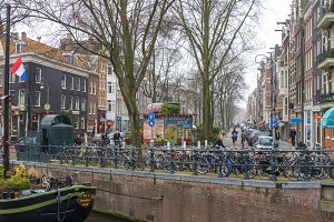 Amsterdam with bikes