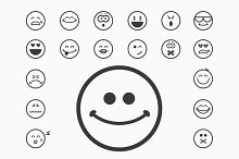 Classic smiley vector faces icons