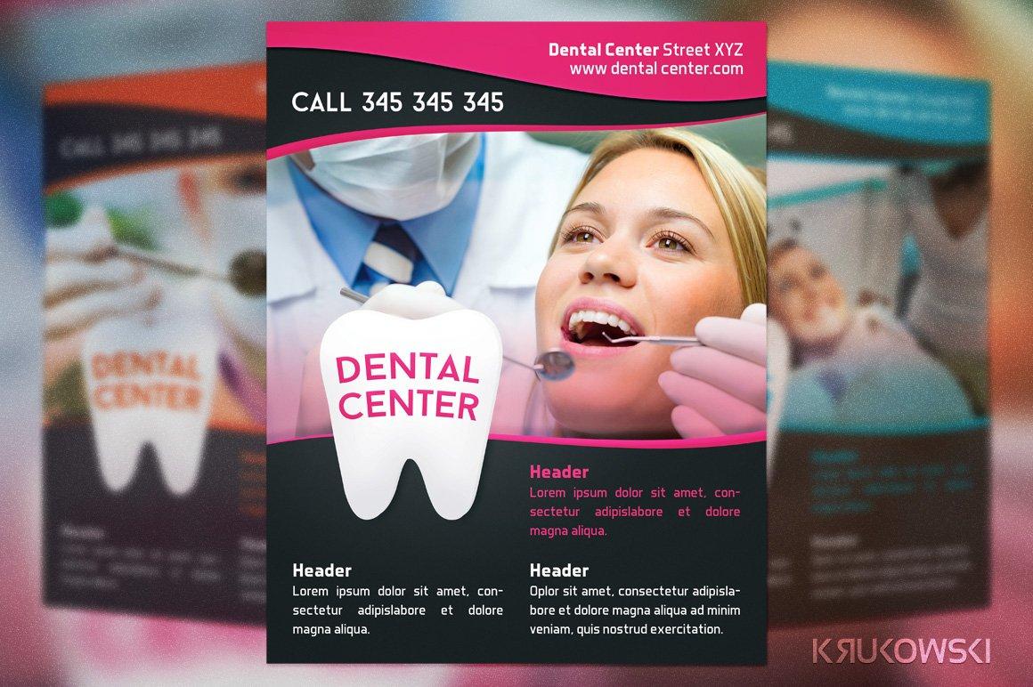 Dental Center Flyer Flyer Templates Creative Market