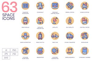 63 Space Icons | Butterscotch