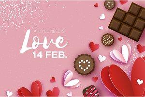 Love Chocolate. Valentines Day