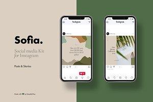 Sofia Social Media Kit for Instagram