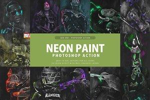 Neon Paint Photoshop Action