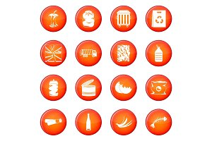 Waste and garbage icons vector set