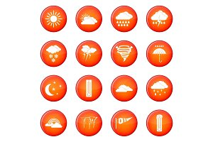 Weather set icons vector set