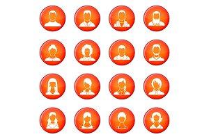 Avatars set icons vector set