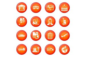 Logistic icons vector set