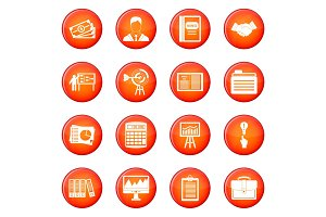 Business plan icons vector set