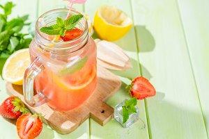 Summer strawberry lemonade