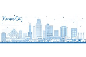 Outline Kansas City Missouri Skyline