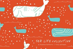 Sea life | Seamless Patterns