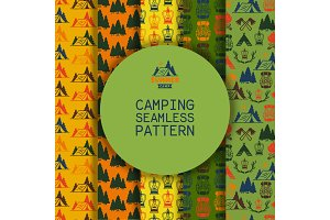 Camping outdoor activities vector