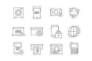 Online banking icon. Internet