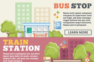 Bus Stop & Train Station Concepts