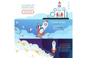 Startup banners. New idea or