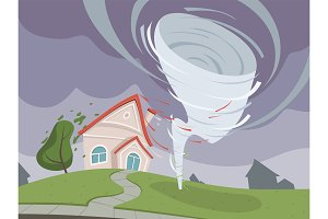Nature disaster background. Weather