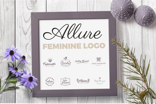 Allure Feminine logo pack