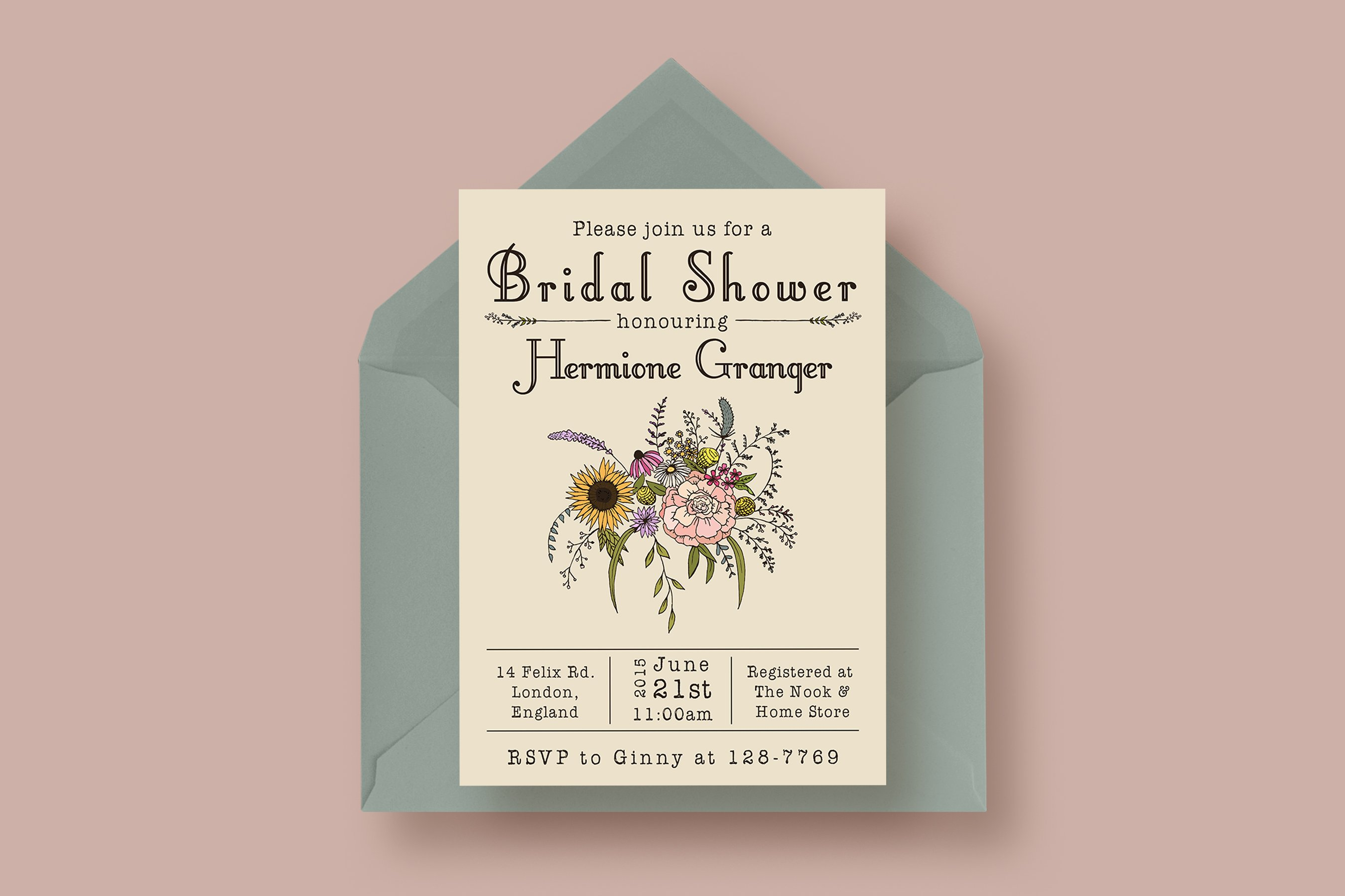 Wildflower Bridal Shower Invitation ~ Invitation Templates ...