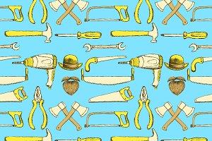 Sketch tools  in vintage style