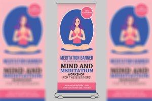 Yoga Meditation Signage Roll-Up