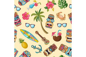 Vector cartoon summer travel