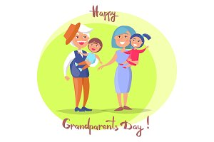 Happy Grandparents Day Senior Couple