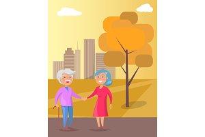 Happy Grandparents Day Senior Couple