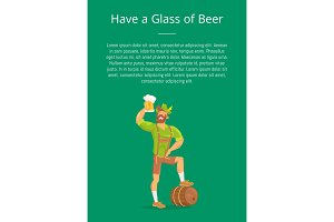 Have Glass of Beer Poster with Man