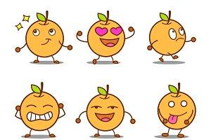 Illustration Of Cartoon Orange Set