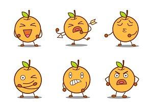 Illustration Of Cute Orange Set