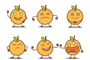 Cute Orange Cartoon Illustration