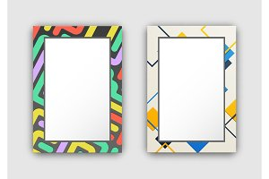 Set of Two Frame Pattern on Vector