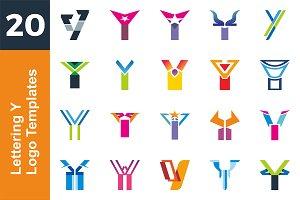 20 Logo Lettering Y Template Bundle