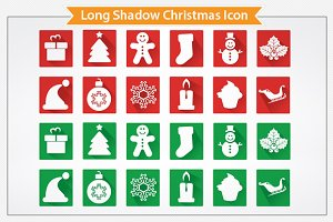 Long Shadow Christmas Icon