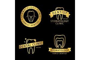 Gold stomatology, dental clinic line