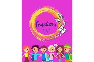 Happy Teacher's Day Wish on Colorful